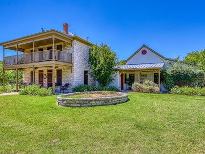 Photo for Historic 3-home Hill Country property w/ porches & balconies - 2 dogs OK!