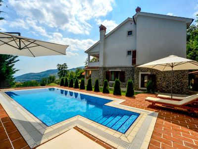 Photo for Beautiful villa Harmonia with a pool and a sea view