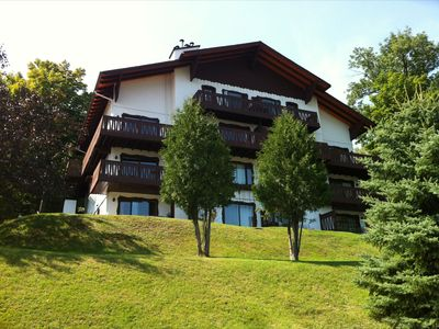 Photo for Tremblant 1BR, Spectacular View, 2km to Mountain, Beach, Pool