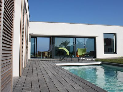 Photo for Magnificent sea view villa, heated outdoor pool, direct access to the beach