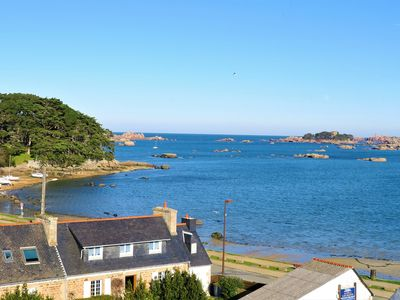 Photo for Apartment in the center of TREGASTEL with EXCEPTIONAL SEA VIEW