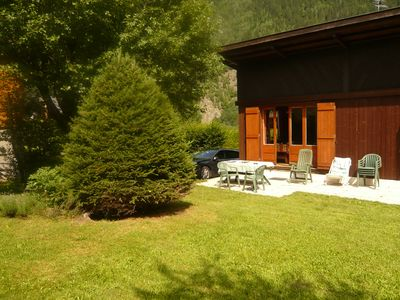 Photo for Chalet facing Mont Blanc and the Aiguille du Midi
