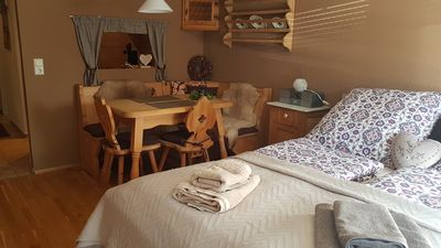 """Photo for Holiday Apartment """"Alpenglück"""" with Balcony, Wellness Specials & Wi-Fi; Parking Available"""