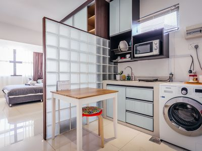 Photo for Cozy studio room in Landed house(7) - 5 mins walk to Kembangan MRT