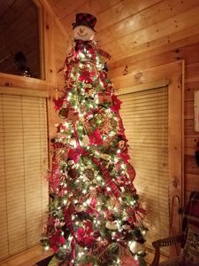 Christmas is decorated Nov-Jan. Professionally decorated and very beautiful