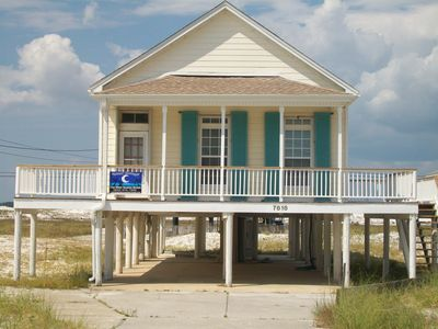 Photo for The first house on the beach....welcome to charming Island Cottage