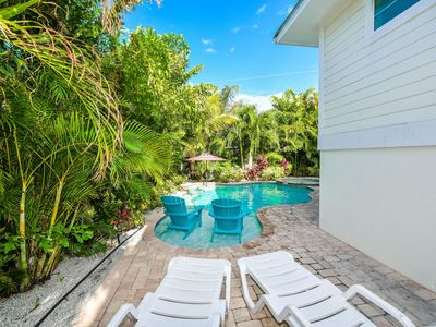 Photo for Beautiful Beach Home with Private, Heated Pool and Spa- Walk to the Beach
