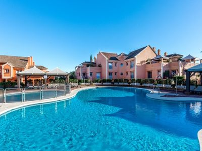 Photo for 4 bedroom Apartment, sleeps 8 with Pool, Air Con and FREE WiFi