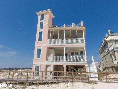 Photo for DEJA VIEW! Unbelievable Gulf Front Luxury! Glass Elevator with Panoramic Views!!