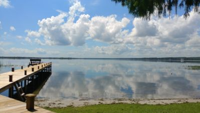 Photo for Lake Kerr Lakefront Retreat, private waterfront and dock, spacious home.