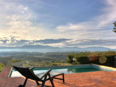 Photo for Peace and relaxation in the heart of the Tuscan countryside.