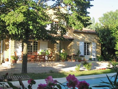 Photo for Provencal villa on 3000 m² with pool and views on vineyards in very rich touristical offers