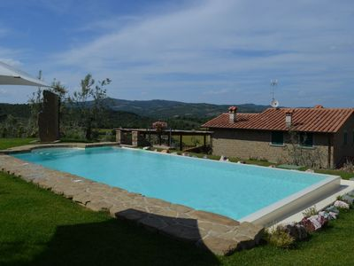 Photo for La Meraviglia is a beautiful independent stone house with private pool, located on a hillside near the picturesque medieval village of Monte San Savino in the heart of the Val di Chiana.
