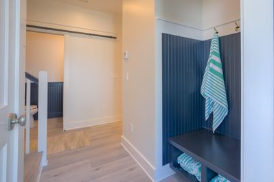 Pick up a complimentary  beach towel on your way out the door!