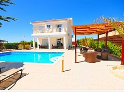 Private Villa With Large Private Pool Situated In Coral Bay, Paphos, Cyrprus