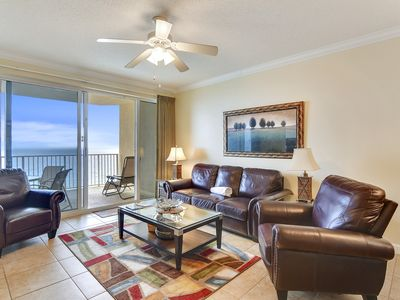 Photo for Beautiful view of the Emerald Coast from private balcony ~ Book Now!!