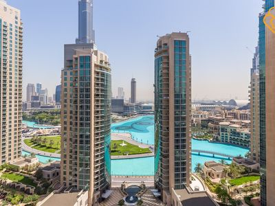 Photo for Downtown Dubai Full fountain view modern 2 Bed