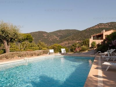 Photo for Rental VILLA WITH SWIMMING POOL RAYOL CANADEL, sea view, sleeps 6.