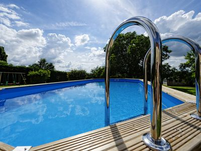 Photo for Borders house 13 people private swimming pool and heated not overlooked calm