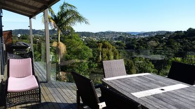 Photo for Hekerua Hilltop Retreat - relax on Waiheke Island in a peaceful and sunny house
