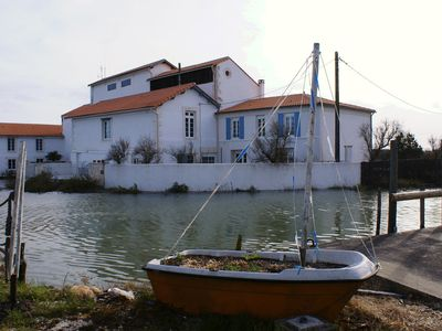 Photo for IR, Guest apartment 2 people in old mill, pool, near Royan