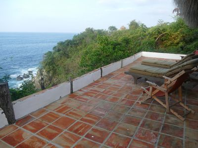 Photo for Oceanfront, Jungle Palapa With Fabulous Views Of Marine Life, Birds, And The Sky