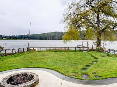 Photo for Peaceful Lakefront Escape w/ Hot Tub and Private Dock