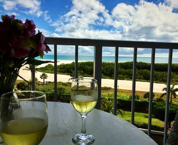 This could be you enjoying an afternoon cocktail overlooking Tigertail beach.