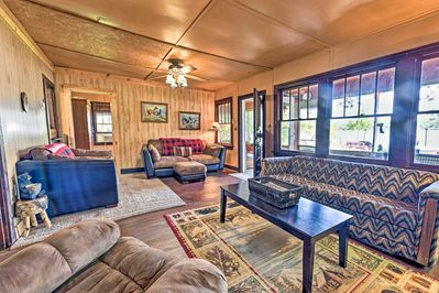 You're sure to love the authentic wood paneling that lines the interior.