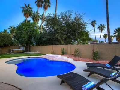 Photo for 5 bedroom home with 2 master suites.   Pool and outdoor space!