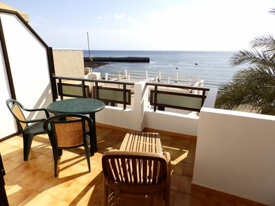 Photo for Nice and luminous 1 bedroom penthouse with terrace and sea views