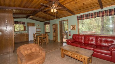 "Photo for Whispering Pine Cabins ""Roadrunner"" - Whirlpool - Fireplace - Upper Canyon"