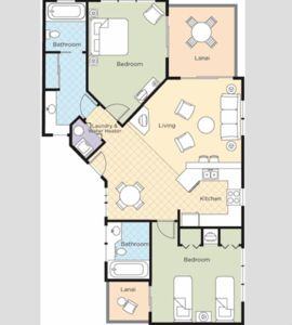 Floor Plan --Some units have a King, Queen and Queen Sleeper.  Some have doubes