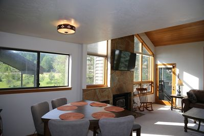 Dining area with seating for 10