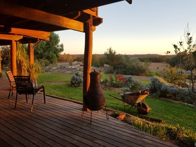 Photo for Calm relaxed wood & rammed earth rural home, dog friendly