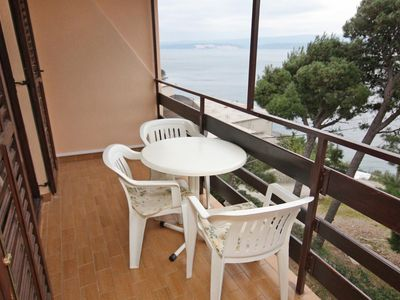 Photo for One bedroom apartment with balcony and sea view Nemira (Omiš)