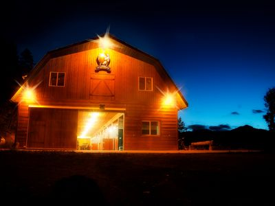 Photo for Best Cozy Barn in the Canadian Rocky Mountains with private Hot Tub + bon fires