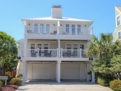 Photo for Oceanview retreat on Wrightsville Beach's south end, 1 block to the beach!!