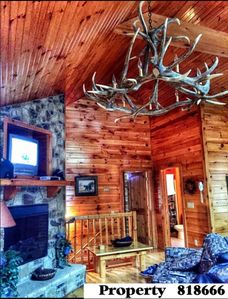 Photo for Beautiful 2-Story Mountain Cabin Located 3 Mins From Parkway