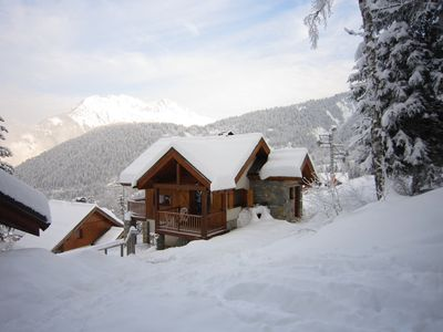 Photo for Ski in Ski out individual chalet with fab views and WIFI