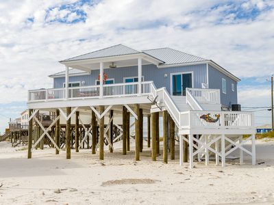 "Photo for ""Dauphin Tale"" Brand New 4 Bedroom 2 Bathroom steps from the Gulf of Mexico!"