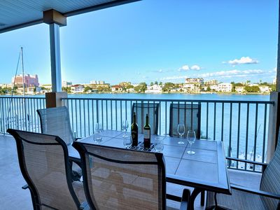 Island Key Condos 303 Large Balcony overlooking Bay