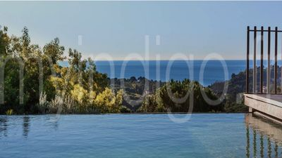 Photo for Contemporary villa 6 rooms sea view heated swimming pool GIGARO