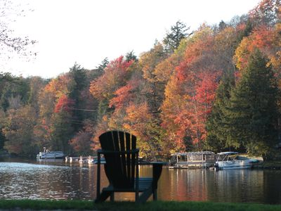 Photo for Adirondack 6 BR/4B Waterfront w/ Tennis Court, Sand VB Court & Dock/Boat House