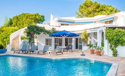Photo for Peaceful villa located in the Monte Golfe area of Quinta do Lago. Beautiful pool and landscaped gardens G102