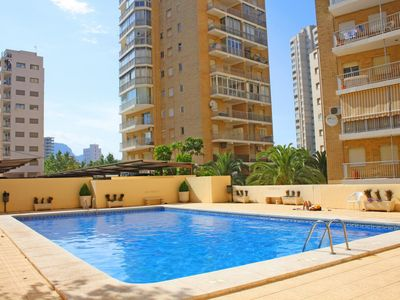Photo for Fantastic apartment La Luz II with pool and terrace, near the beach of La Fossa in Calpe