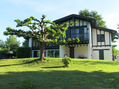 Photo for House with garden of 3000m2 Raised, Hikes, Fishing, Lake, Mountain, 5 km from Spain (Basque Country)