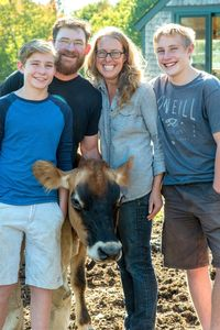 Our family with Opal the cow