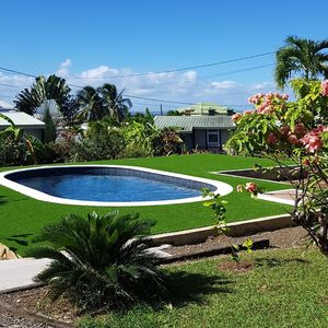 Photo for Bungalows in tropical garden in Goyave.