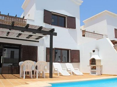 Photo for Private relaxing villa:large patio garden & pool. Parking WiFi and pool heating